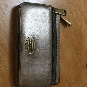 FOSSIL, leather bronze coloured wallet
